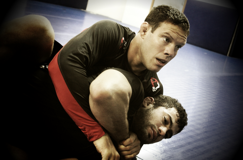 """Professor Ricardo Almeida showing a No Gi Technique at GB Training Camp"""