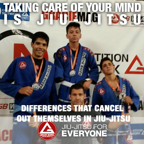 Differences that cancel out themselves in Jiu-Jitsu