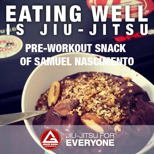 Pre-Workout snack of Samuel Nascimento