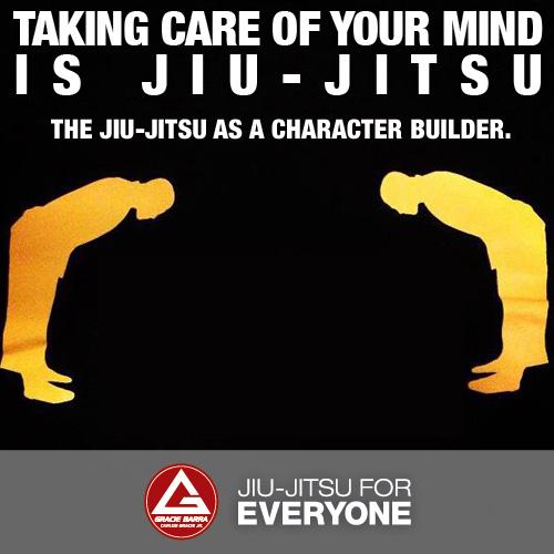 The jiu-jitsu as a character builder.