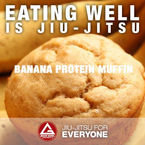 Eating Well is Jiu-Jitsu: Banana Protein Muffin | Gracie Barra ...