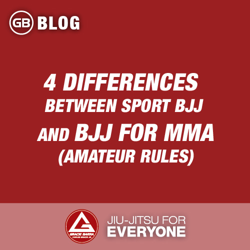 4 Differences Between Sport Bjj and Bjj for MMA (amateur rules)