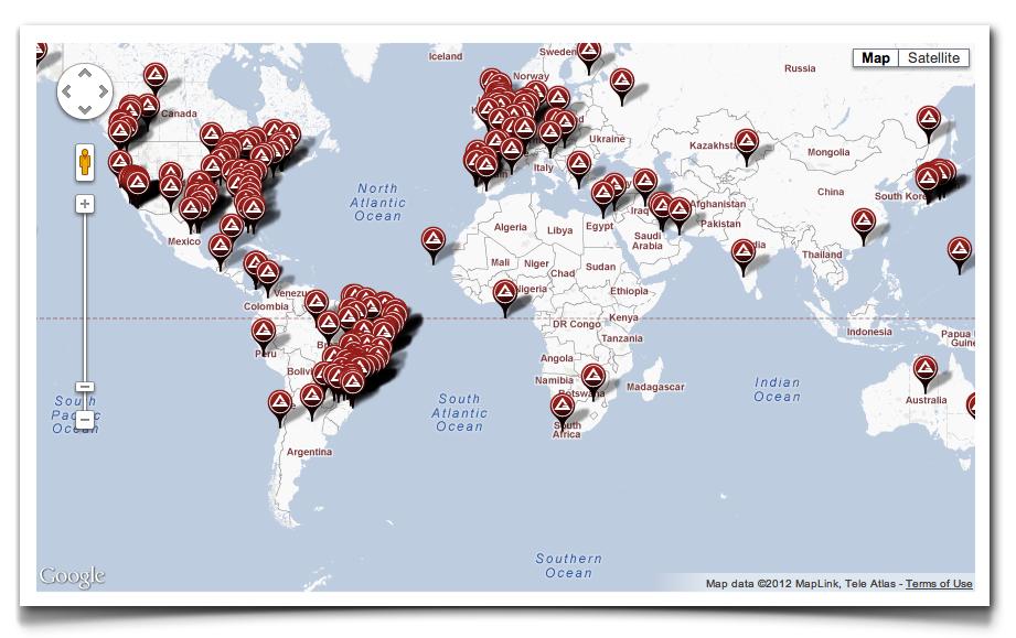Can You Help Us Test The GB JiuJitsu World Map Gracie Barra - I need a world map