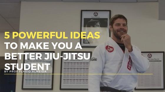 Instructor Flavio in the jiu jitsu studio