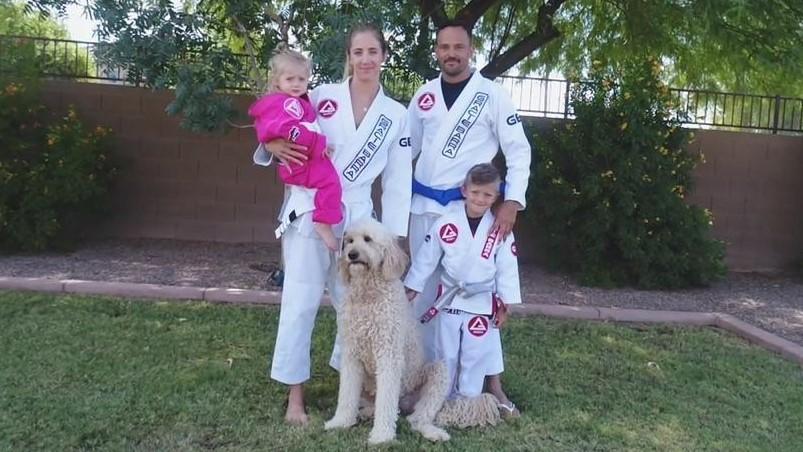 Family in their Gracie Barra Kimonos