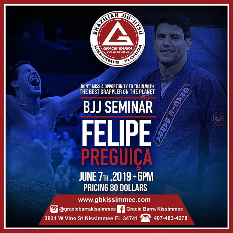 "FELIPE ""PREGUIÇA"" PENA SEMINAR – JUNE 7TH 2019"