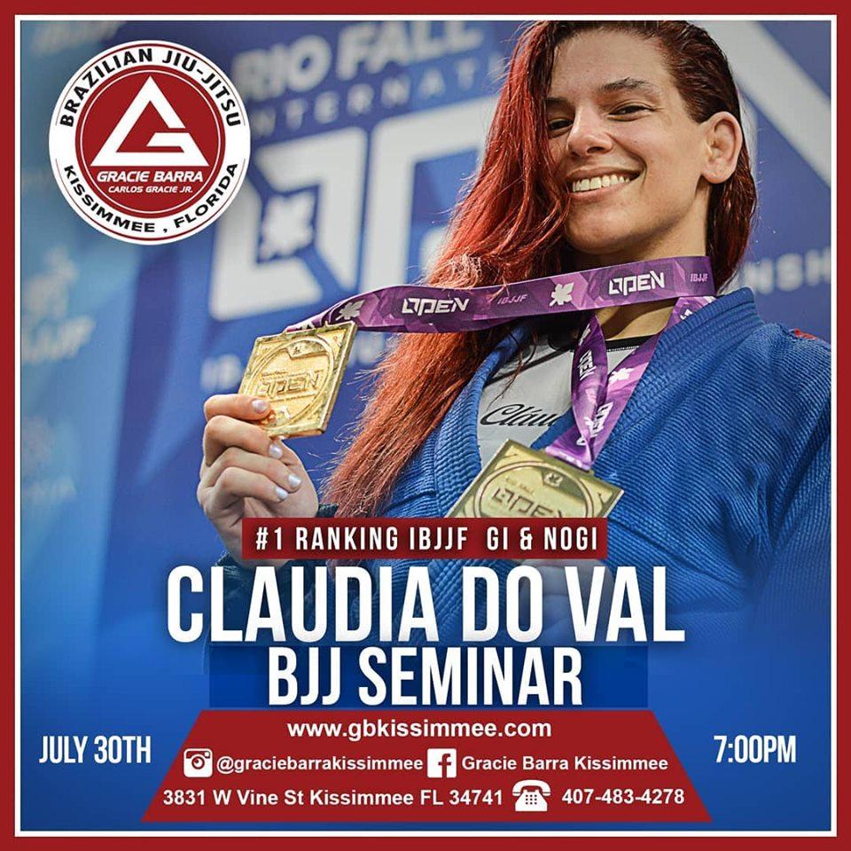 CLAUDIA DO VAL SEMINAR – JULY 30TH 2019