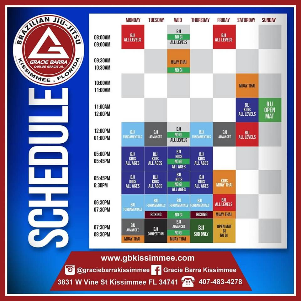 NEW SCHEDULE STARTING AUGUST 12TH, 2019!!!