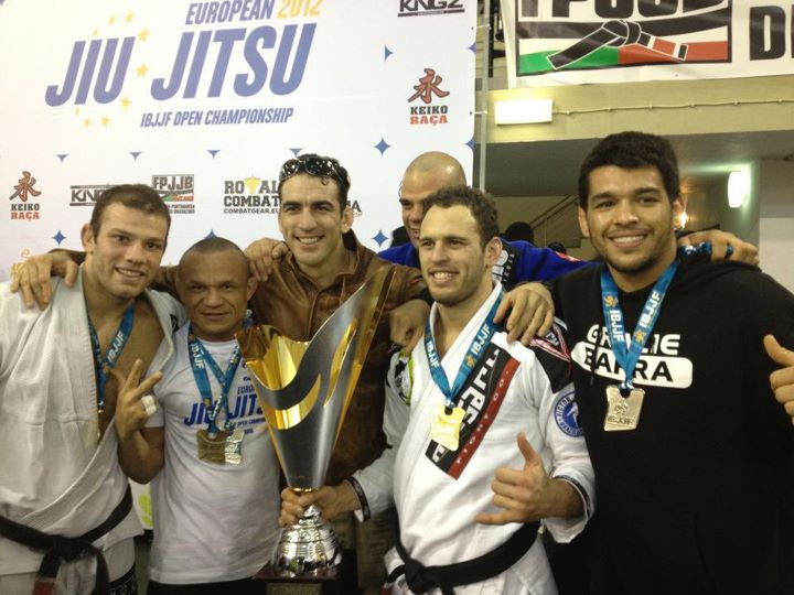 Gracie Barra team at the BJJ Europeans 2012