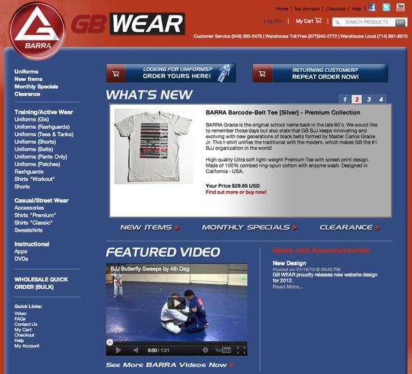 web store gracie barra bjj gear uniforms belts