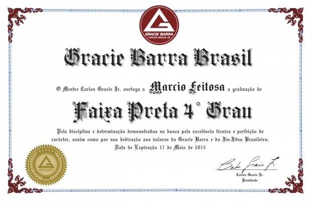 Do You Have your GB Black Belt Certificate? | Gracie Barra