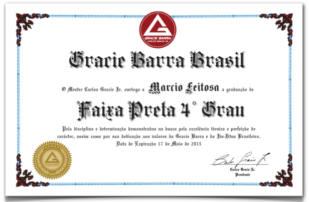 GB Black Belt Certificates - Did you Receive Yours?   Gracie
