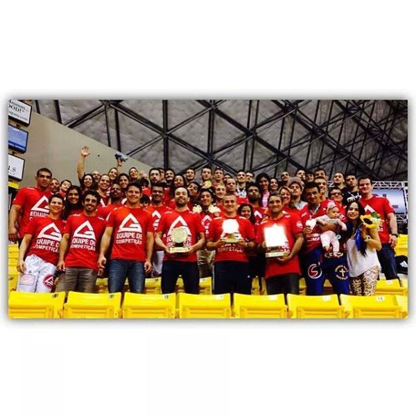 The 'GB red sea' and the 2014 World Championship trophies.