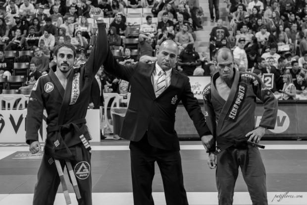 Head instructor of Gracie Barra Irvine, Philipe Della Monica defeated Megaton Dias in the featherweight division