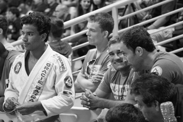 "Carlos ""CJ"" Souza with Professors Zé Radiola and Marcio Feitosa (left to right)"